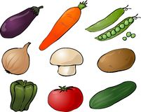 Vegetables illustration Royalty Free Stock Photo