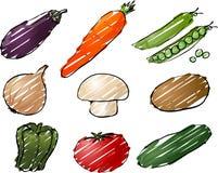 Vegetables illustration Royalty Free Stock Photo