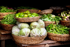 Vegetables at Indian market Stock Photography