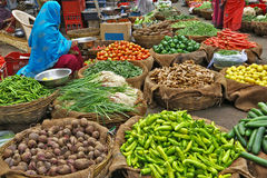 Vegetables in indian market Royalty Free Stock Images