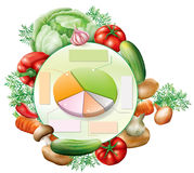 Vegetables and infographic elements Stock Image