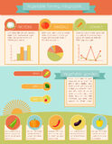 Vegetables Infographic Set Royalty Free Stock Photos
