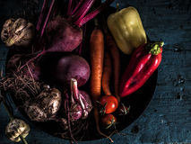 Vegetables ingredients borscht fresh harvest healthy eating royalty free stock images