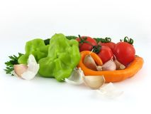 Vegetables isolated. On white Royalty Free Stock Photo
