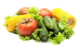 Vegetables isolated stock image