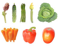 Vegetables isolated Royalty Free Stock Images