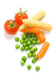 Vegetables isolated on white Royalty Free Stock Photo