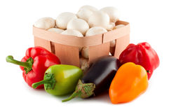 Vegetables isolated white. Royalty Free Stock Image