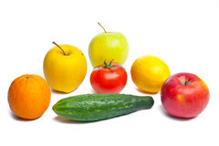 Vegetables isolated on white Royalty Free Stock Photography