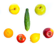 Vegetables isolated on white Stock Images