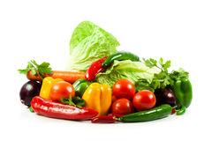 Vegetables isolated on a white Stock Images