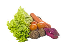 Vegetables. Isolated on white background Royalty Free Stock Images