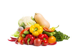 Vegetables isolated Stock Photography