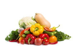 Vegetables isolated Stock Images