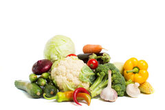 Vegetables isolated on a white background Stock Image