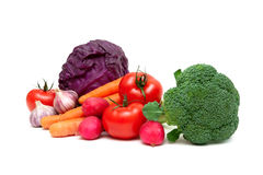 Vegetables isolated on white background Royalty Free Stock Photos