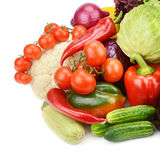 Vegetables isolated on white background Stock Photography