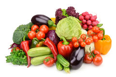 Vegetables isolated on white background Royalty Free Stock Photography