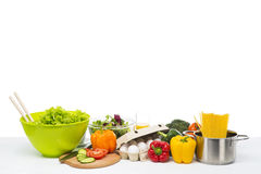 Vegetables isolated on white Royalty Free Stock Image