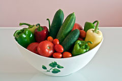 Vegetables in a jar Stock Photography