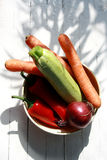 Vegetables in a jar Royalty Free Stock Images