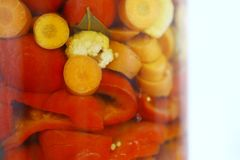 Vegetables in a jar Royalty Free Stock Photography