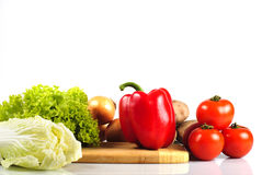 Vegetables in kitchen Stock Images