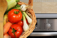Vegetables in the kitchen. Fresh vegetables in the kitchen Stock Image