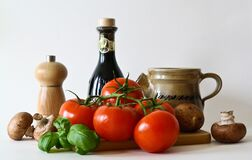 Vegetables and kitchen accessories Royalty Free Stock Image