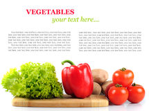 Vegetables in kitchen isolated Royalty Free Stock Photo