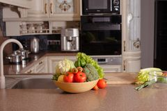 Vegetables in the kitchen Stock Image