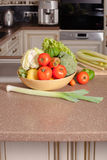 Vegetables in the kitchen Stock Images