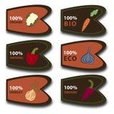 Vegetables labels. Organic, Bio, Eco, Natural vegetables labels Royalty Free Illustration