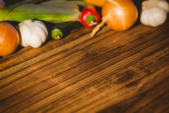 Vegetables laid out on table Stock Photography