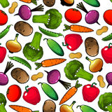 Vegetables and legumes seamless pattern Stock Image