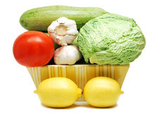 Vegetables and lemons Stock Photography