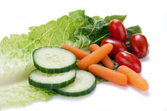 Vegetables on a Lettuce Leaf Stock Image