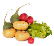 Vegetables lie on a table Stock Image