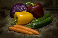 Vegetables light painting Royalty Free Stock Image