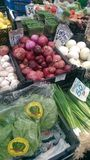 Vegetables. At the local market royalty free stock photography