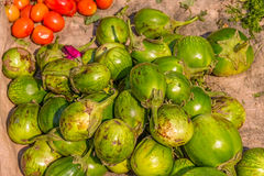 Vegetables at the local market, Myanmar Stock Photos
