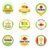 Vegetables Logos, Labels and Design Elements Stock Photos