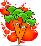 Vegetables in love Stock Images