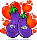 Vegetables in love Royalty Free Stock Photo