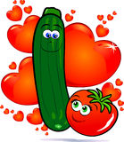 Vegetables in love Stock Photos
