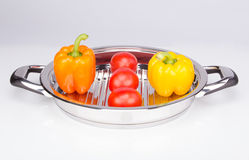 Vegetables in the low pan. High quality Stock Photography