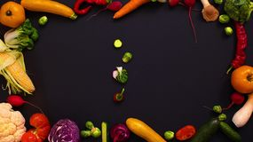 Vegetables made letter I stock video footage