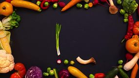 Vegetables made letter U stock video footage