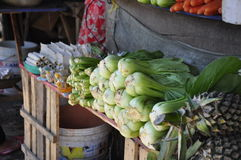 Vegetables on market. Vegetables for sale on the market in Hoi-An, Vietnam stock photos