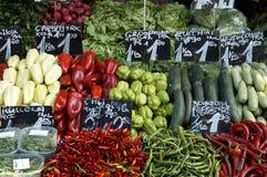 Vegetables  market. Fresh vegetables on sale Stock Images